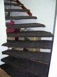 Schody, montáž na železnou konstrukci