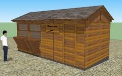 Dřevěné stánky pro městské trhy Cheb