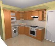 3D návrh a následně realizovaná kuchyňská linka