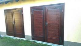 Vrata garáže, materiál smrk masiv
