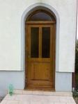 Vchodové dveře, materiál smrk masiv, lepený hranol