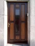 Domovní dveře, materiál smrk masiv